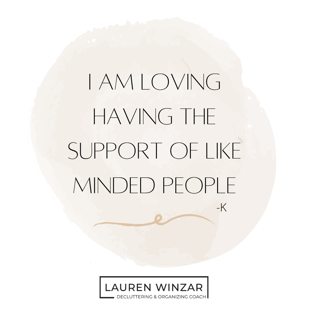 Quote: I am loving having the support of likeminded people